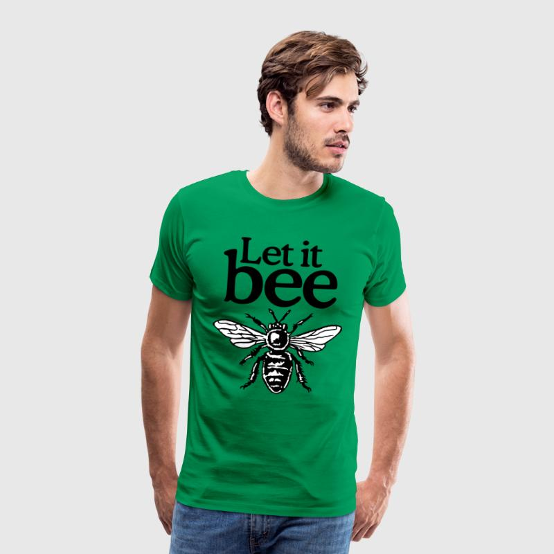 Let It Bee Beekeeper Quote Design (two-color) - T-shirt Premium Homme