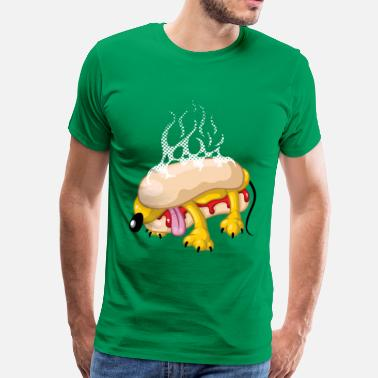 Divertidas Hot dog - Camiseta premium hombre