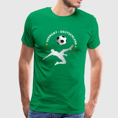 doel omhaal Voetbal Duitsland Meister thee - Mannen Premium T-shirt