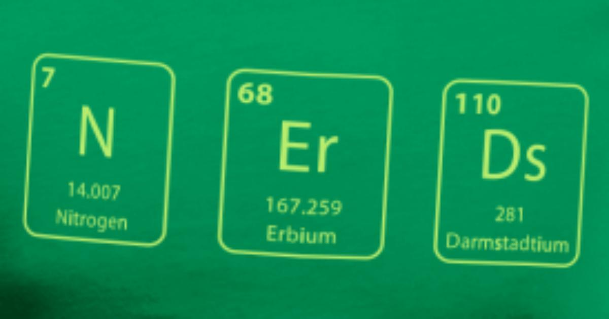 Nerds Periodic Table Element Van Robinbekaert Spreadshirt