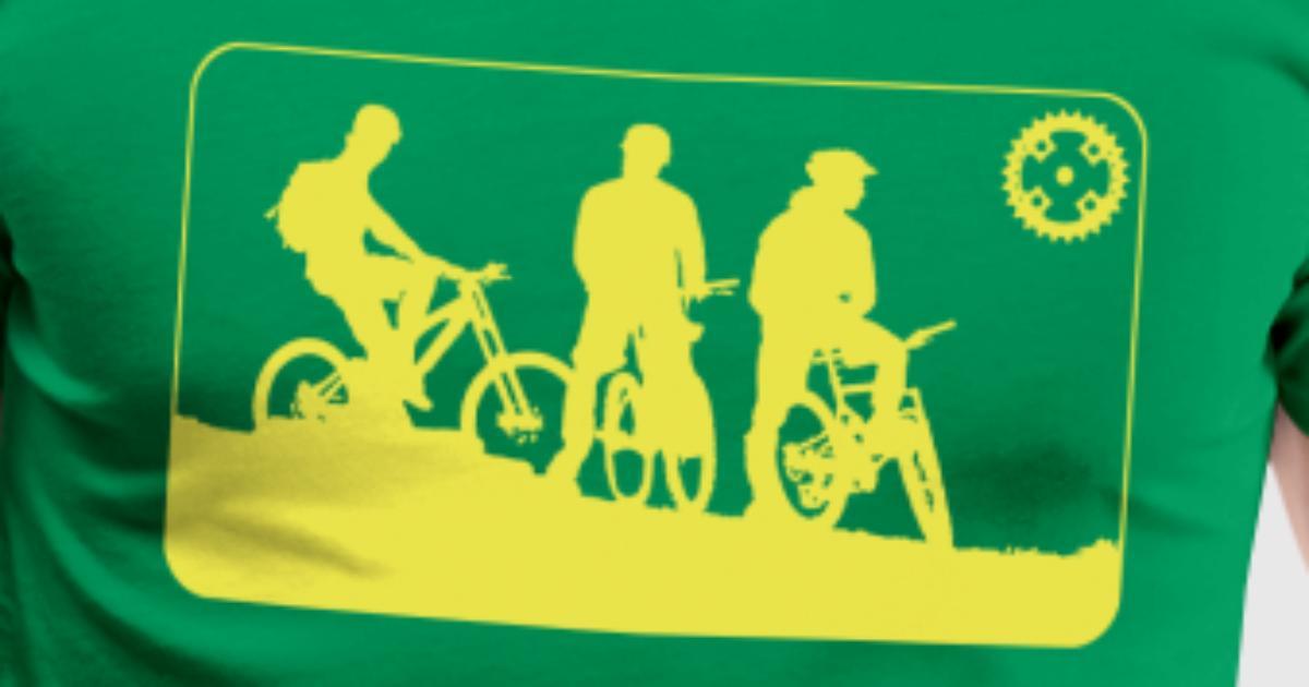 3 Mountainbiker (Rahmen) Vektor von Resettingarts   Spreadshirt
