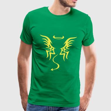 Devil Tattoo angel devil tattoo - Men's Premium T-Shirt