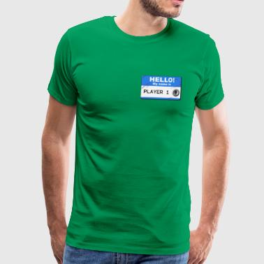 My name is player 1 - Premium-T-shirt herr