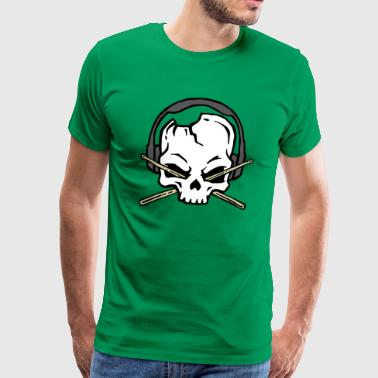 Skull of drummer - Men's Premium T-Shirt