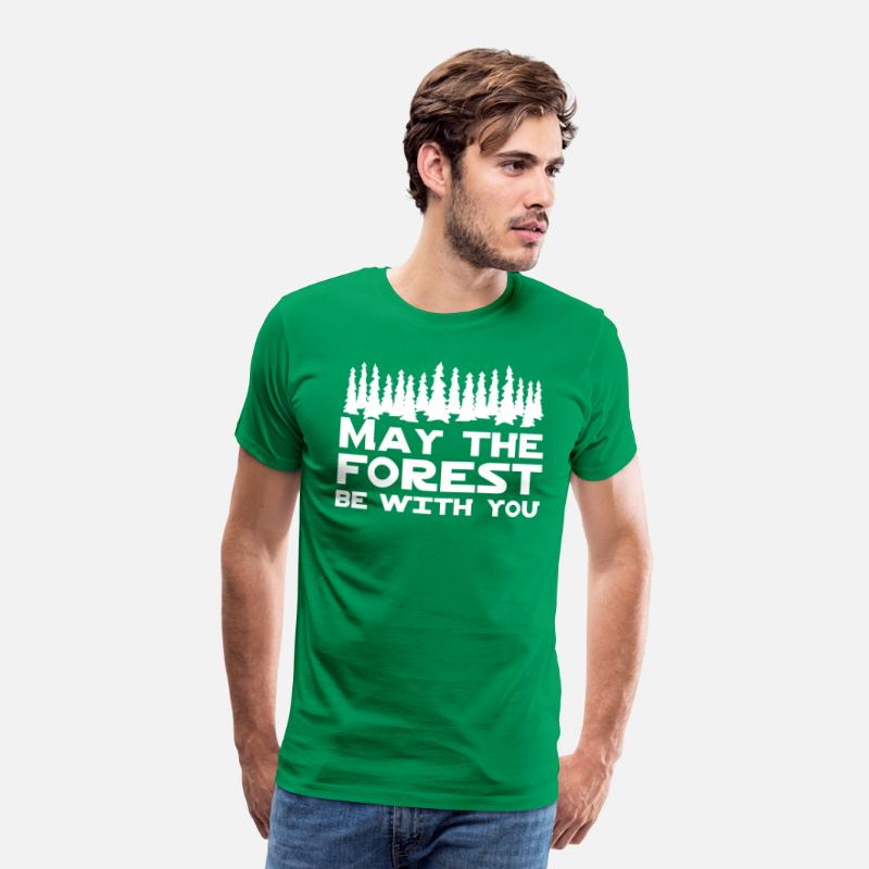Forest T-Shirts - May the Forest Be With You - Men's Premium T-Shirt kelly green
