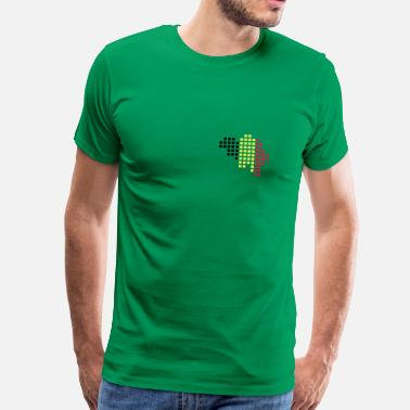 Pixel Map Belgium flag pixel map - Men's Premium T-Shirt