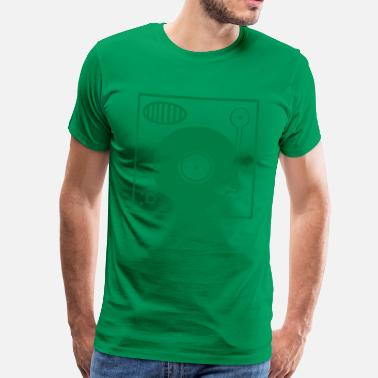 45 Forest green Vinyl Turntable Men's T-Shirts - Men's Premium T-Shirt