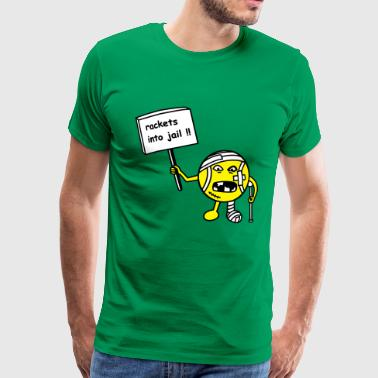 rackets into jail - Mannen Premium T-shirt