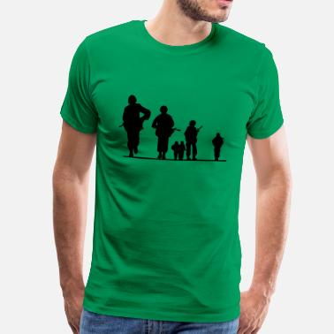 Uniform more soldier, soldiers, war, uniform, German Federal Armed Forces, army, weapon, pistol, rifle, maga - Premium-T-shirt herr