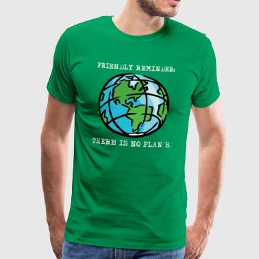 Earth Day Saves The Only Planet Habitat - Men's Premium T-Shirt