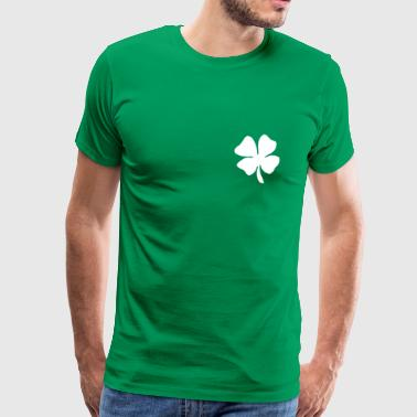 St Patricks Day Irish Leaf - St. Patrick's Day - Herre premium T-shirt