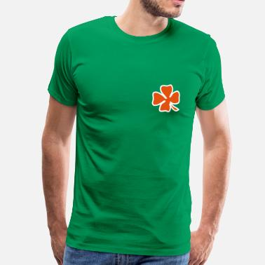 Two Coloured Irish Leaf two coloured - Men's Premium T-Shirt