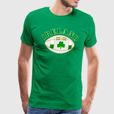 ireland styled rugby ball - Men's Premium T-Shirt