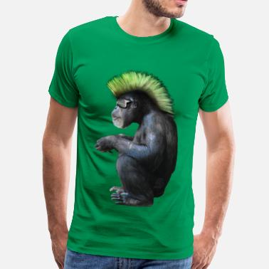 Punk Rockeur chimpanzé néo punk by customstyle - T-shirt Premium Homme