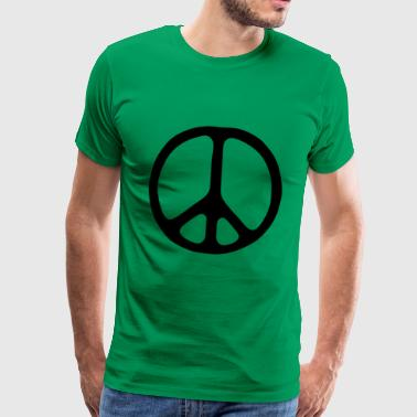 Peace sign - Premium-T-shirt herr