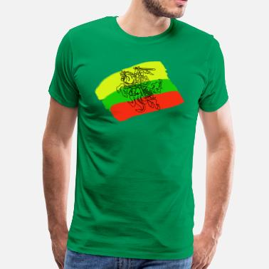 Lithuanians Lithuanian flag with rider - Men's Premium T-Shirt