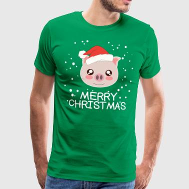 Christmas pig - Men's Premium T-Shirt
