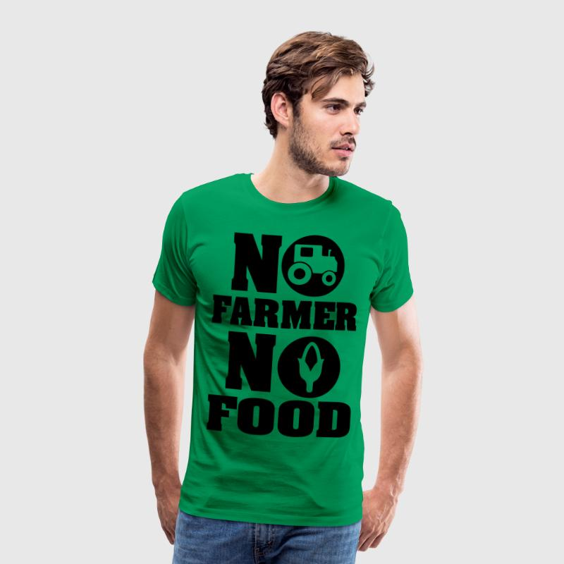 No farmer no food - Männer Premium T-Shirt