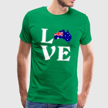 I love Australia - Austalia - Adventure - Men's Premium T-Shirt