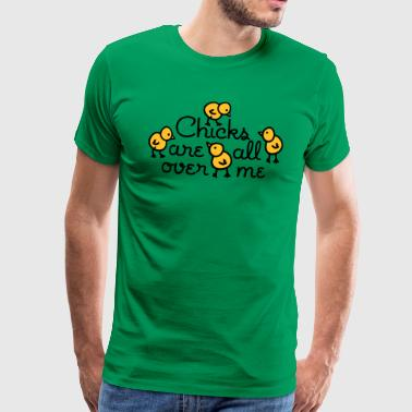 Chicks are all over me - Camiseta premium hombre