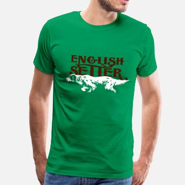 Troja english_setter - Mannen Premium T-shirt