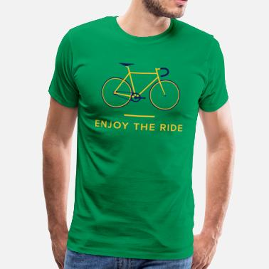 Retro Cycling Enjoy The Ride Retro Cycling T-Shirt - Men's Premium T-Shirt