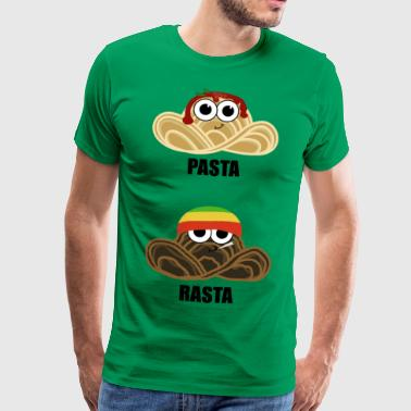 Pasta Rasta - with basil and oregano - Men's Premium T-Shirt