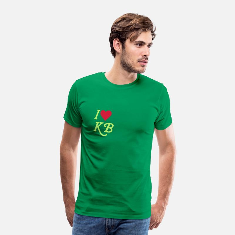 Love T-Shirts - I love KB - Men's Premium T-Shirt kelly green