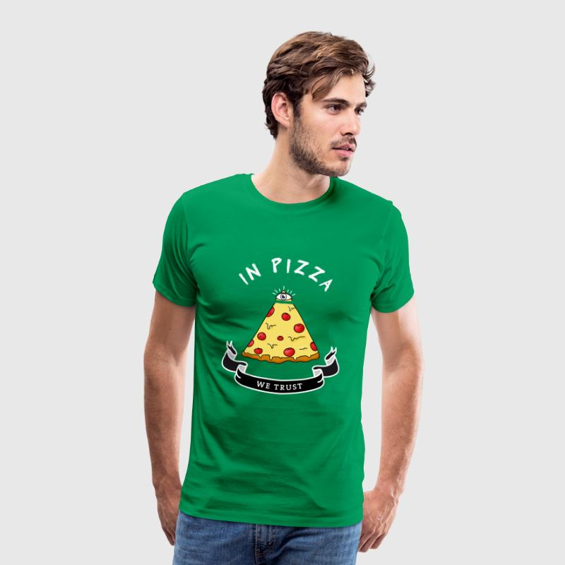 Pizza Illuminati drôle All Seeing Eye alimentaire Humour - T-shirt Premium Homme