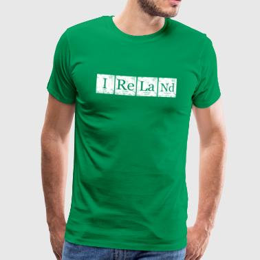 Ierland Element Periodic Table Nerd Geek - Mannen Premium T-shirt