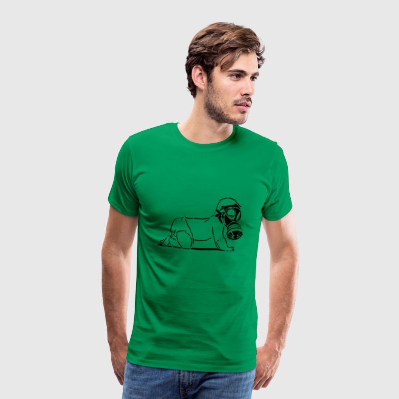 Child with gas mask - Men's Premium T-Shirt