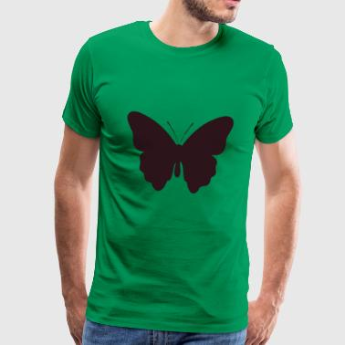 illustration papillon noir rouge - T-shirt Premium Homme