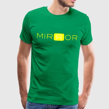 MIRROR gul - Premium T-skjorte for menn
