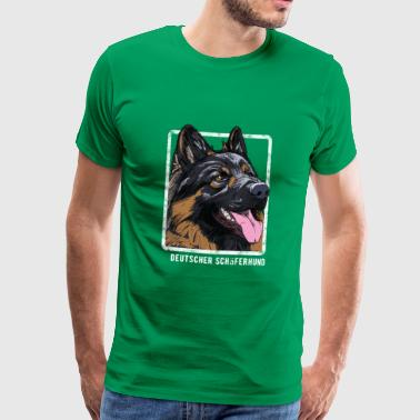 Dogs - German Shepherd - Men's Premium T-Shirt