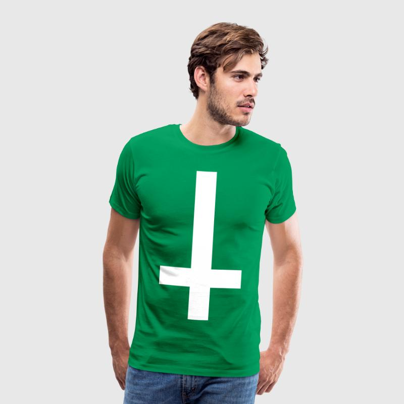 simple cross upside down - T-shirt Premium Homme
