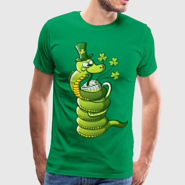Saint Patrick's Day Snake - Men's Premium T-Shirt