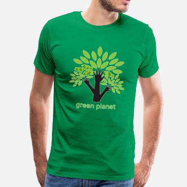 Blue Planet Green Planet fighting for a clean environment - Men's Premium T-Shirt