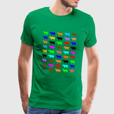 Multi Color Kuh - Männer Premium T-Shirt