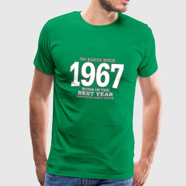On Earth Since 1967 On Earth since 1967 (white) - Männer Premium T-Shirt
