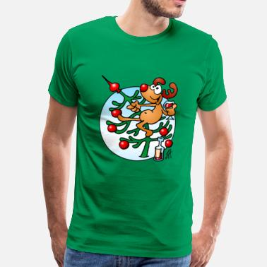 Rød Tud Rudolph the Red Nosed Reindeer - Herre premium T-shirt