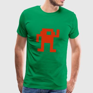 I SeeT-shirt (ICT-shirt) rode_retro_game_man - Mannen Premium T-shirt