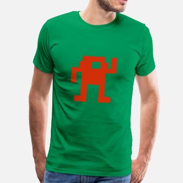 Retro I SeeT-shirt (ICT-shirt) rode_retro_game_man - Mannen Premium T-shirt