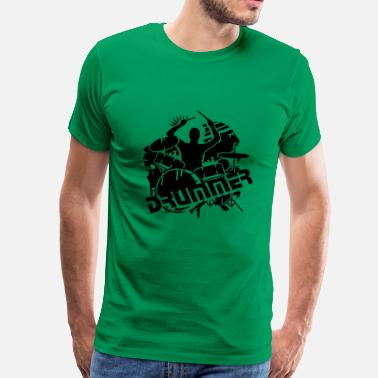 Batteries Graffiti Un batteur et sa batterie - T-shirt Premium Homme
