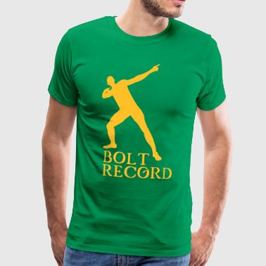 Record Usain Bolt  - Premium T-skjorte for menn