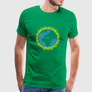earth burning - Männer Premium T-Shirt
