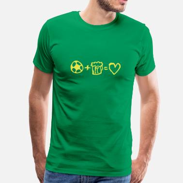 football+beer=love - Herre premium T-shirt