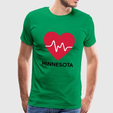 heart Minnesota - Men's Premium T-Shirt