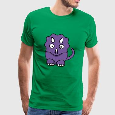 purple dinosaur - Men's Premium T-Shirt