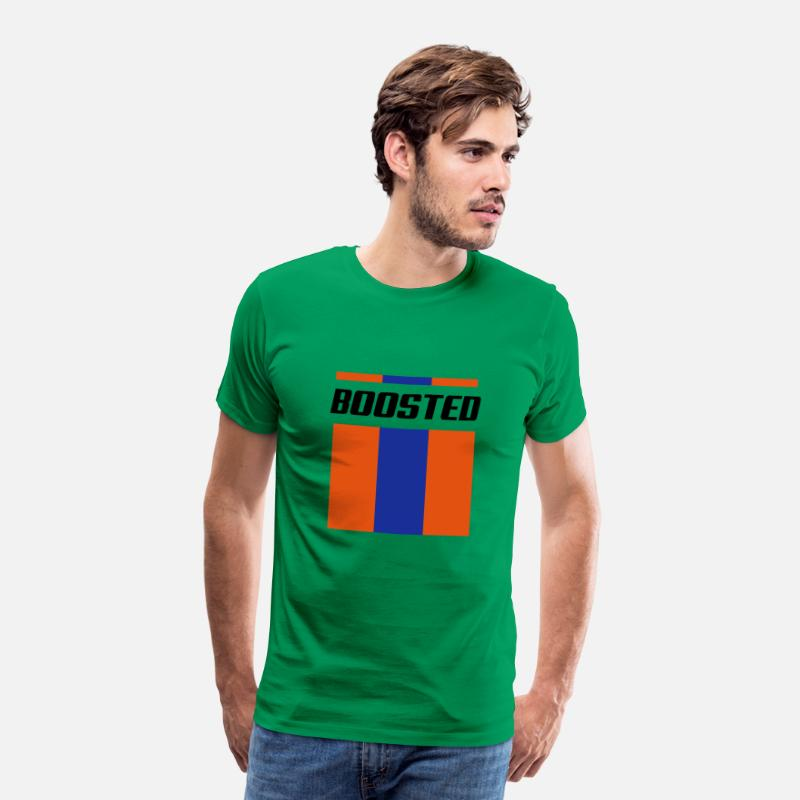 Turbo T-Shirts - Boosted stripes - Men's Premium T-Shirt kelly green