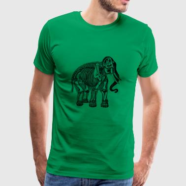 elephant skeleton - Men's Premium T-Shirt